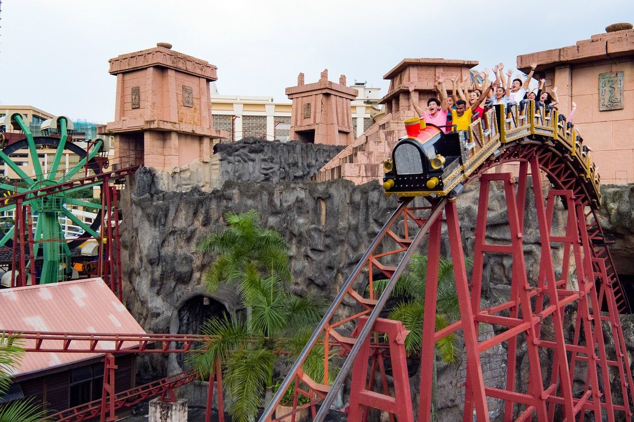 Lost City of Gold Scream Coaster - Amusement Park at Sunway Lagoon Theme Park